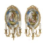 A PAIR OF FRENCH WALL APPLIQUES, CIRCA 1880