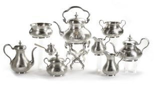 A COFFEE AND TEA SERVICE SET, 19TH CENTURY