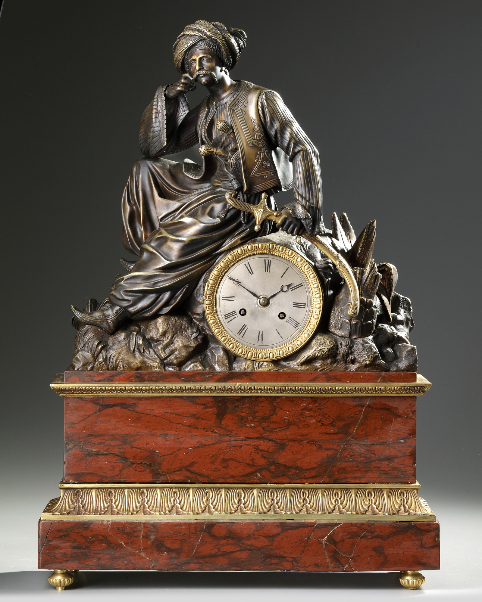 AN ORIENTALIST CLOCK, FRANCE, 19TH CENTURY