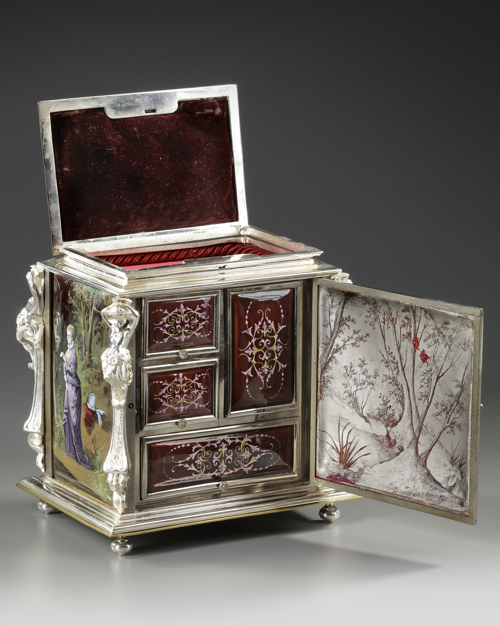 A JEWELRY BOX, FRANCE, LATE 19TH CENTURY - Image 4 of 5