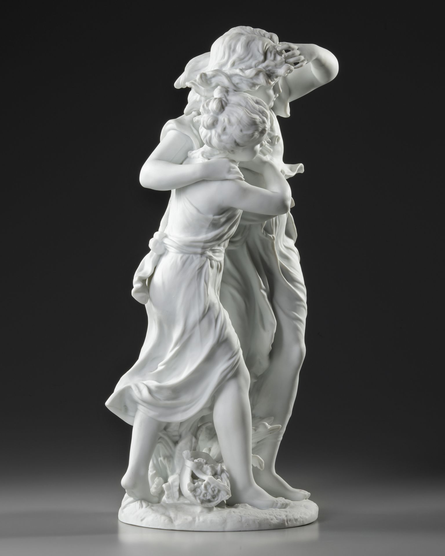 A FRENCH BISCUIT STATUE, SIGNED BY MOREAU (1834-1917) - Image 4 of 5