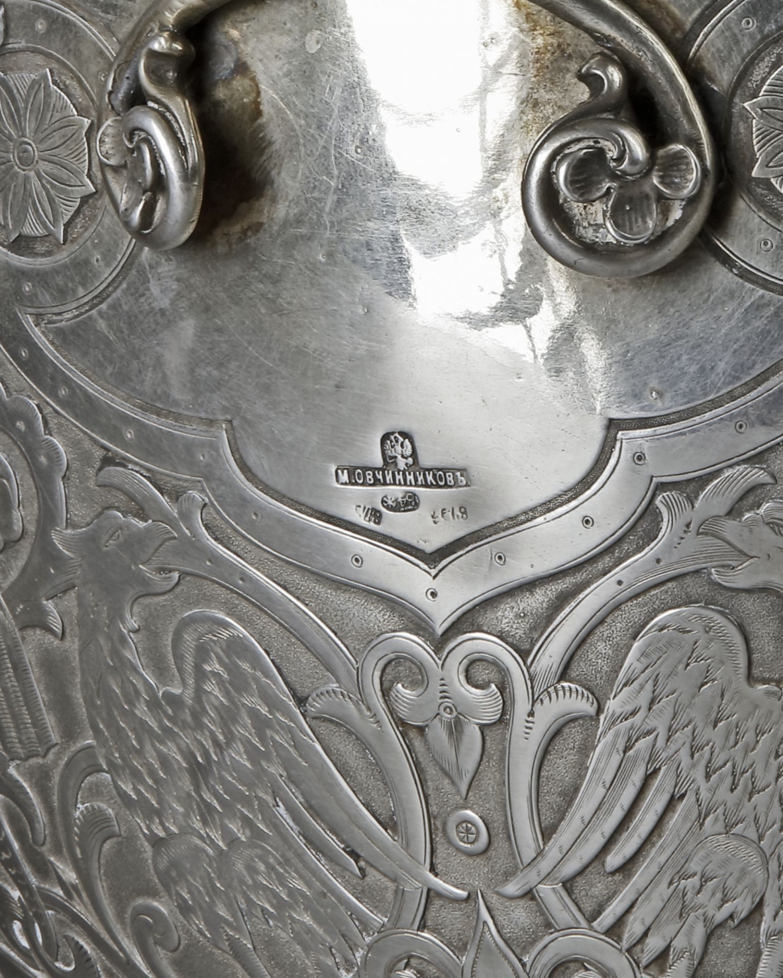 A LARGE RUSSIAN IMPERIAL SILVER KOVSCH BOWL, LATE 19TH CENTURY - Image 3 of 8