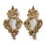 A PAIR OF LOUIS XV STYLE MIRRORS, 19TH CENTURY