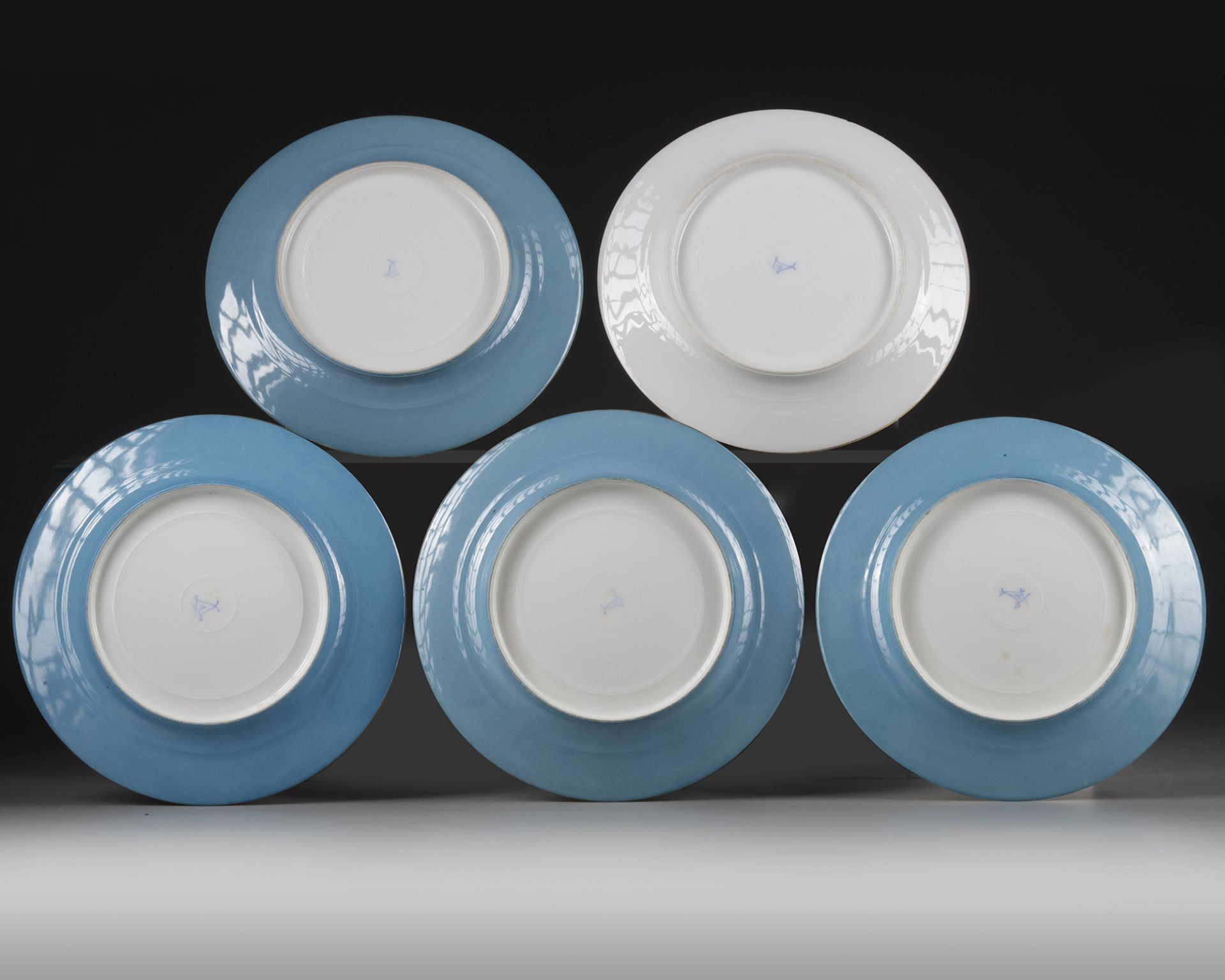 A SET OF SEVRES PLATES, LATE 19TH CENTURY - Image 2 of 2