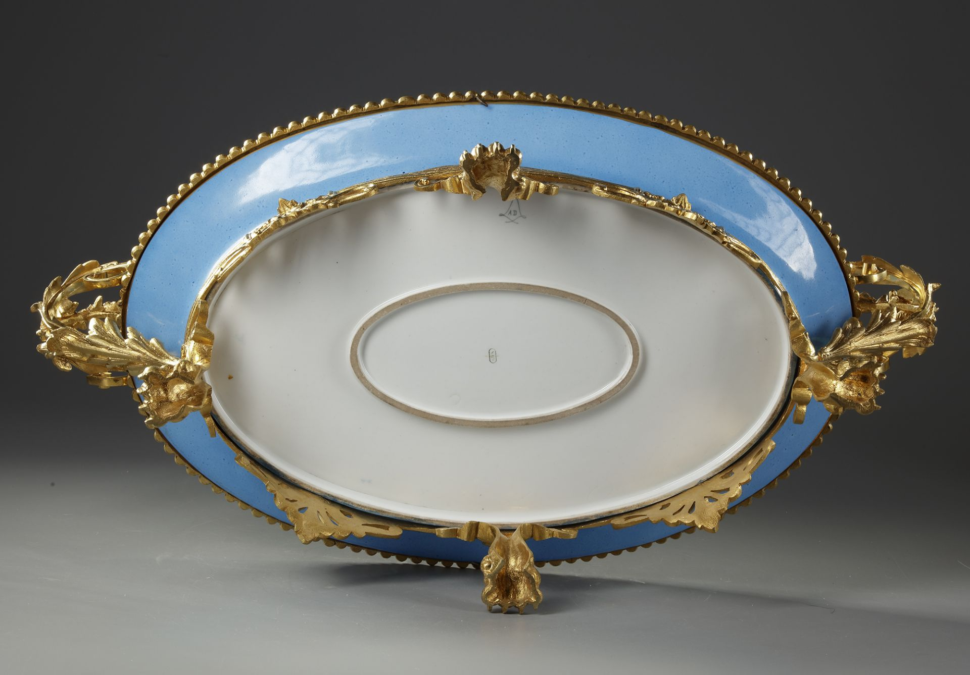 A LARGE 'SEVRES' PLATE, 19TH CENTURY - Image 5 of 5