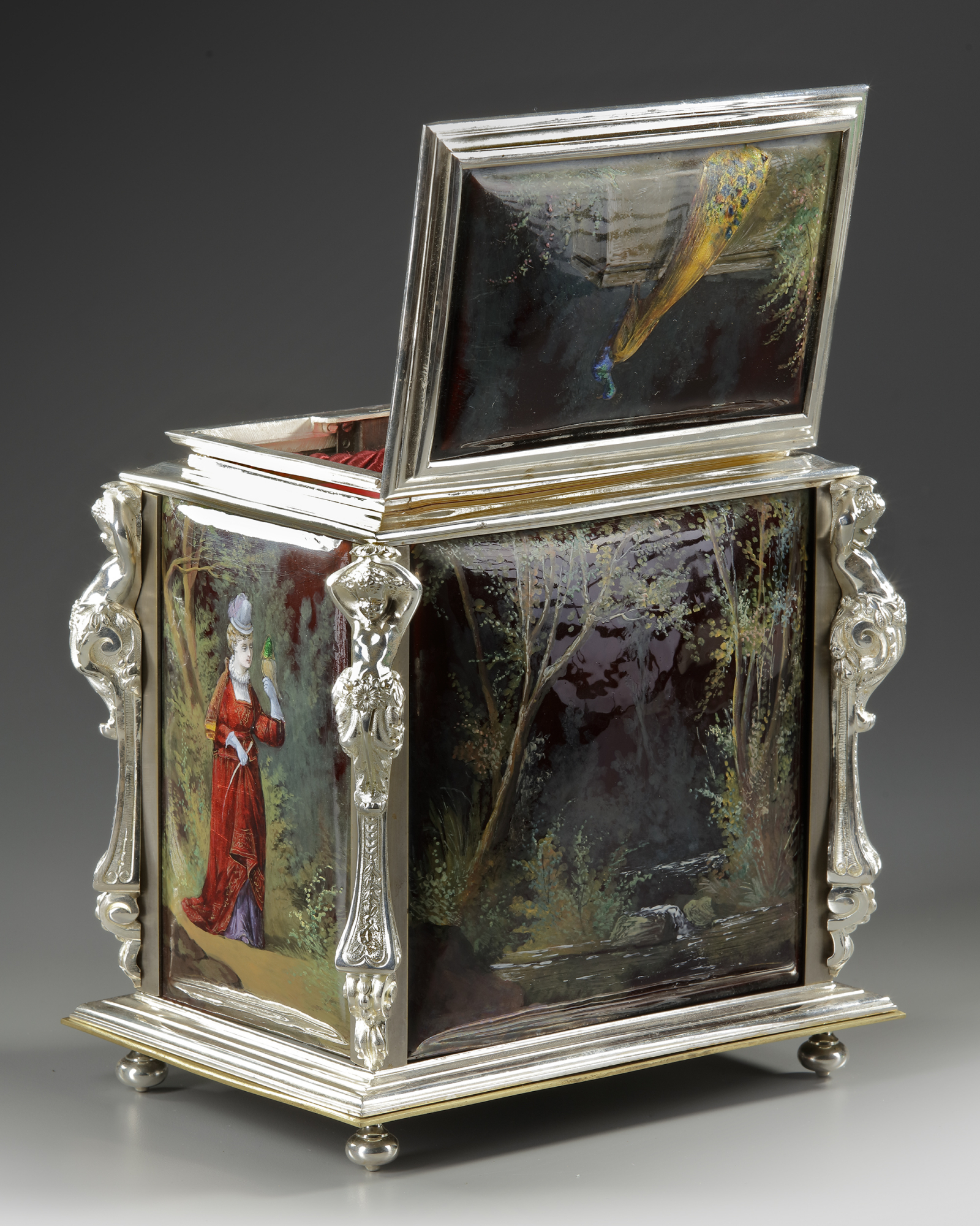 A JEWELRY BOX, FRANCE, LATE 19TH CENTURY - Image 3 of 5