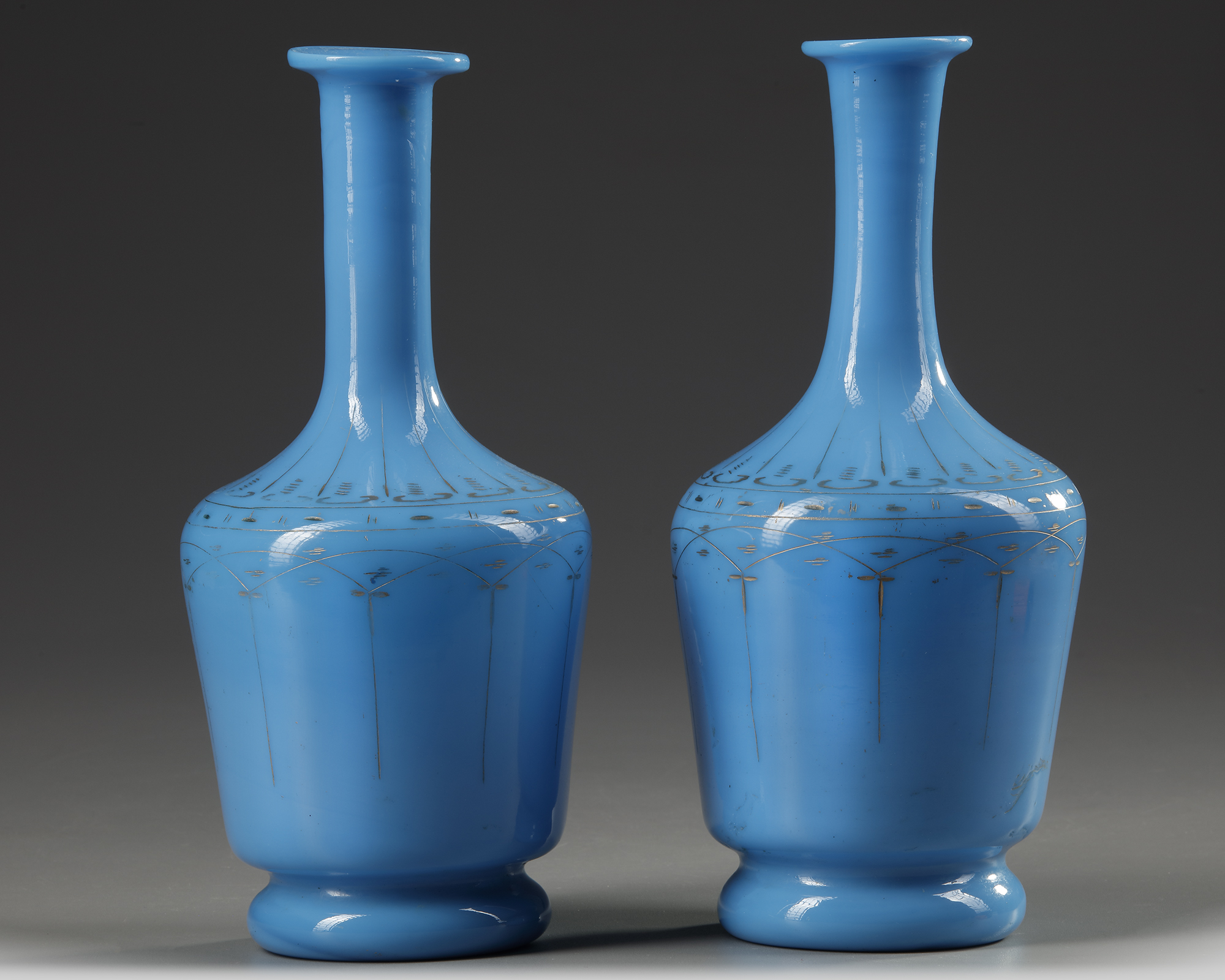A PAIR OF OPALINE CARAFES, LATE 19TH CENTURY - Image 2 of 4