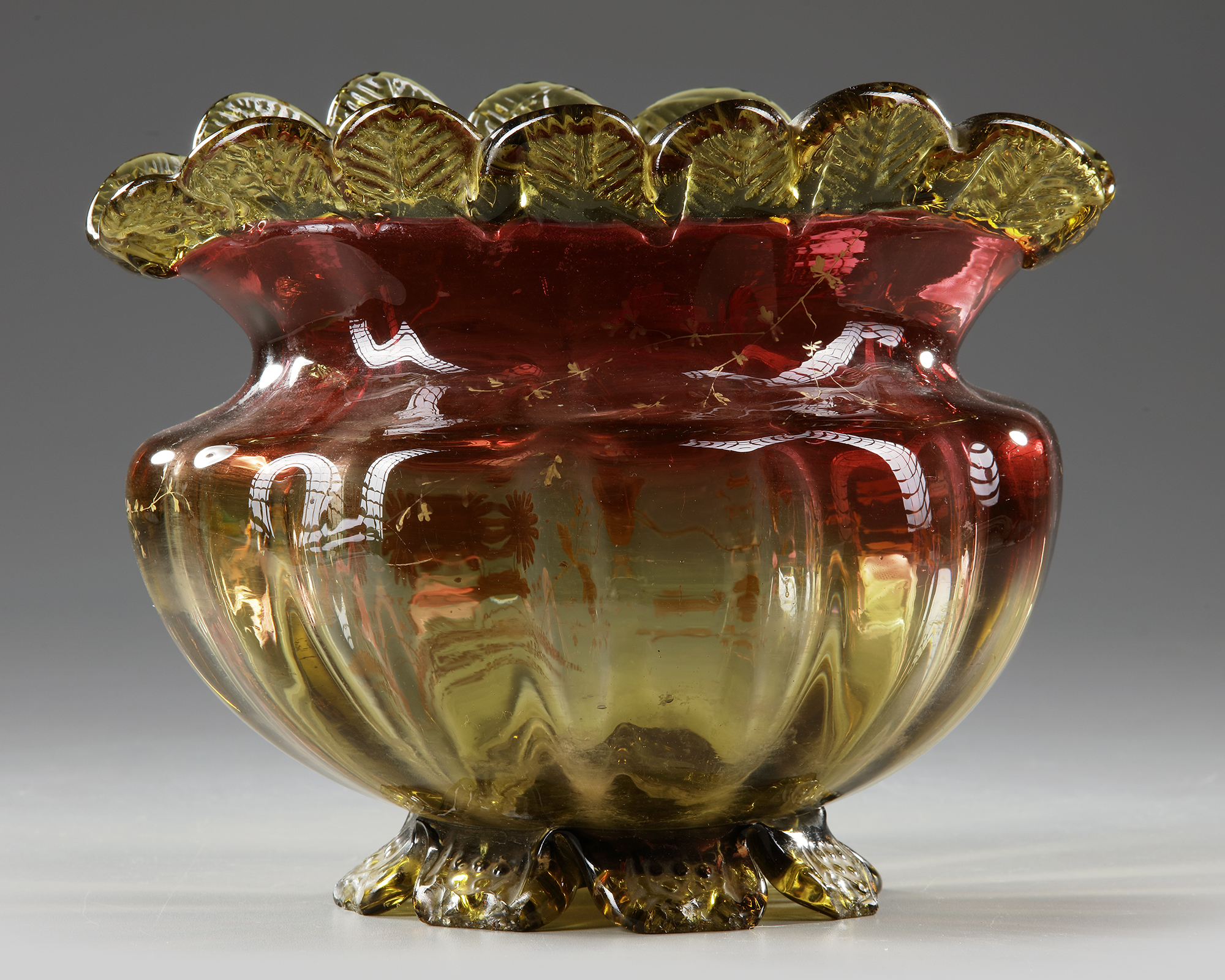 A BLOWN GLASS BOWL, 'LE GRAS', LATE 19TH CENTURY - Image 2 of 4