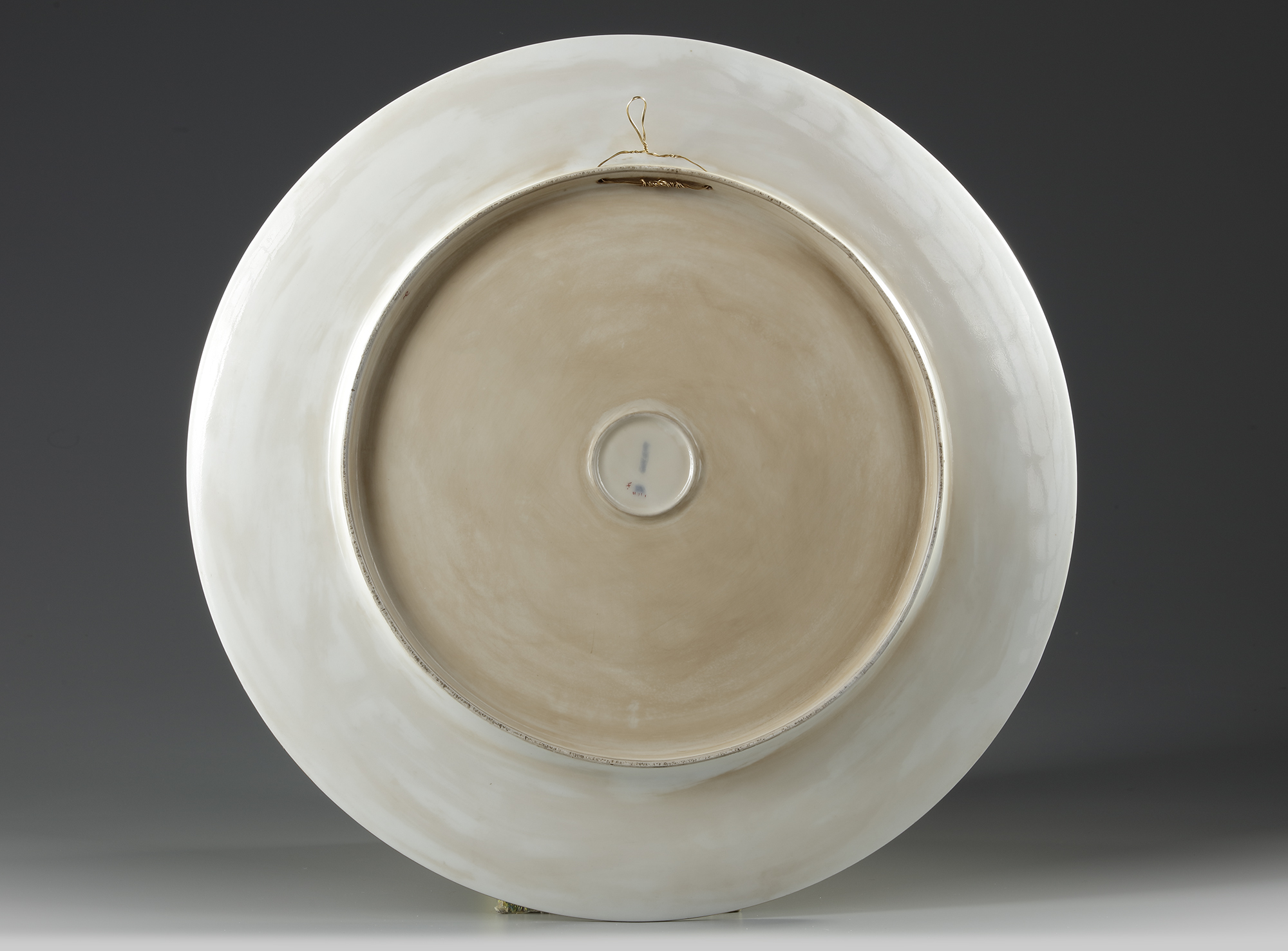 A FRENCH PORCELAIN PLATE, LATE 19TH CENTURY - Image 2 of 2