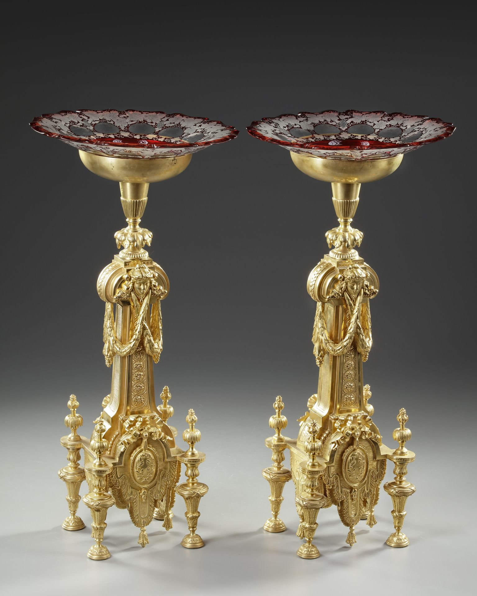 A PAIR OF ORMOLU CENTERPIECES, FRANCE, 19TH CENTURY - Image 3 of 4