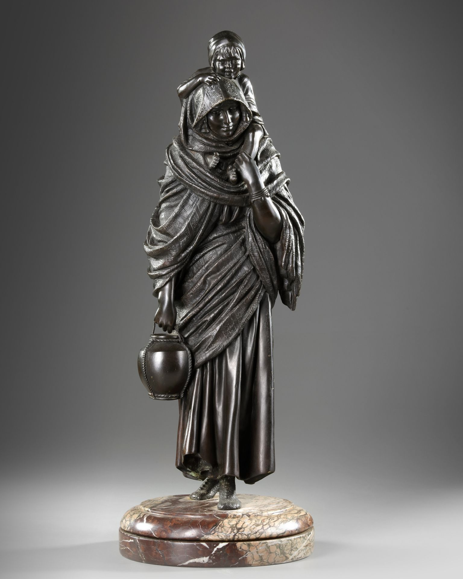 A BRONZE STATUE OF A LADY, DEMETRE CHIPARUS, 20TH CENTURY