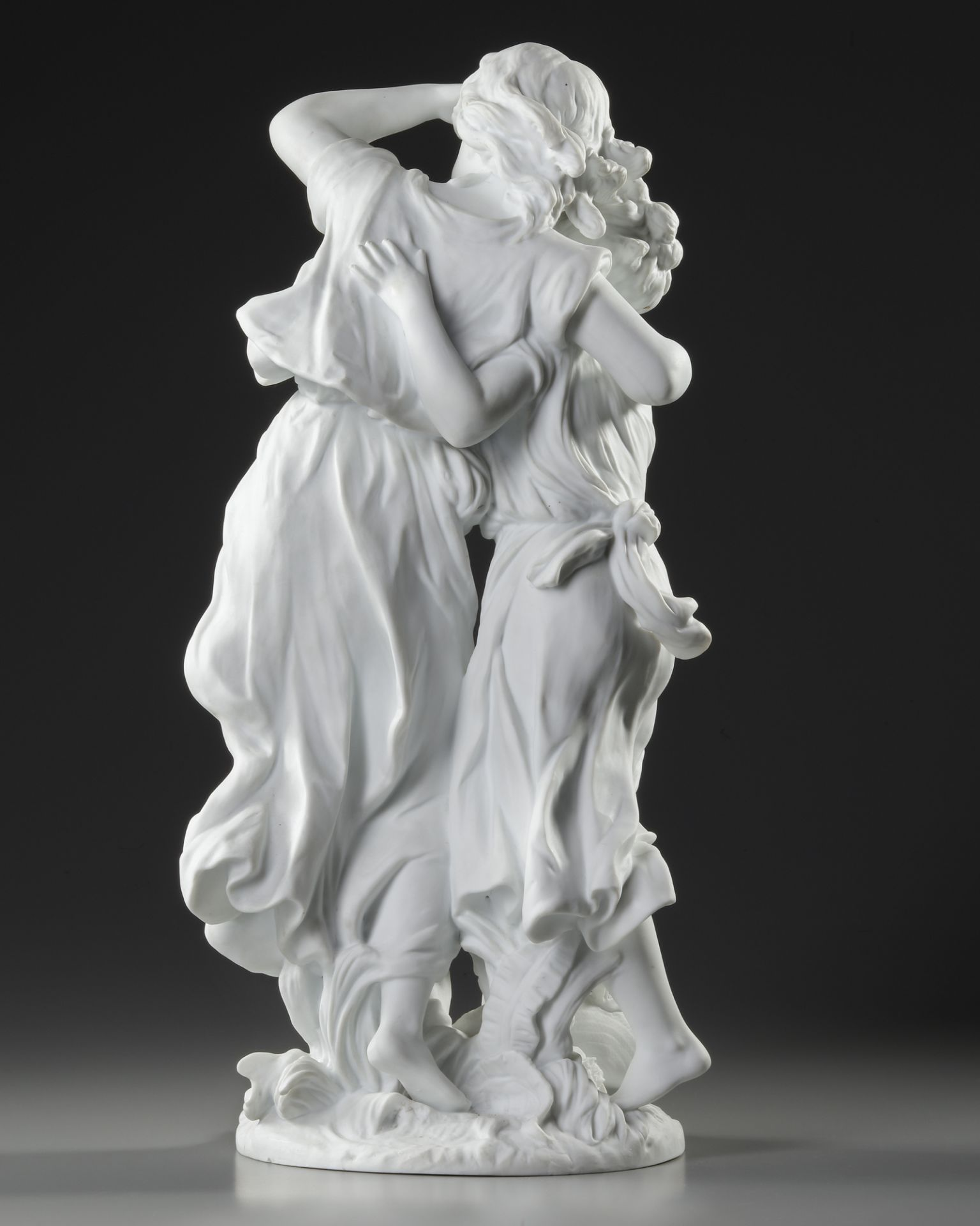 A FRENCH BISCUIT STATUE, SIGNED BY MOREAU (1834-1917) - Image 2 of 5