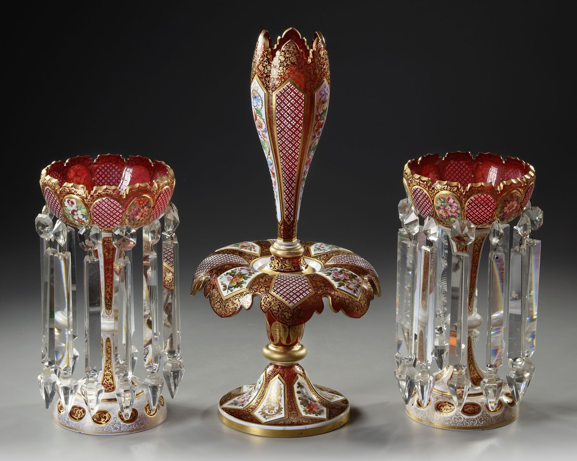A BOHEMIAN CRYSTAL SET, LATE 19TH CENTURY - Image 2 of 3