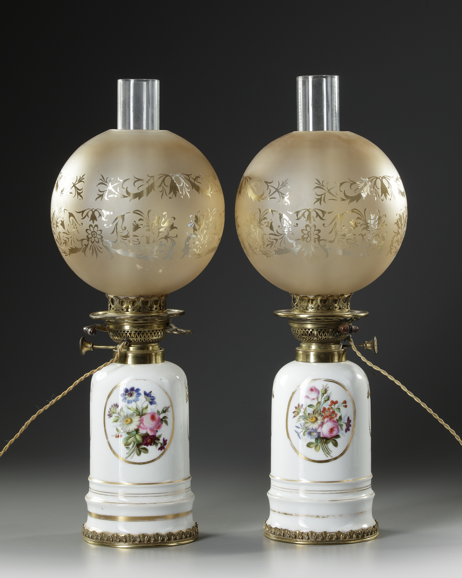 A PAIR OF WHITE PORCELAIN LAMPS, LATE 19TH CENTURY - Image 2 of 2