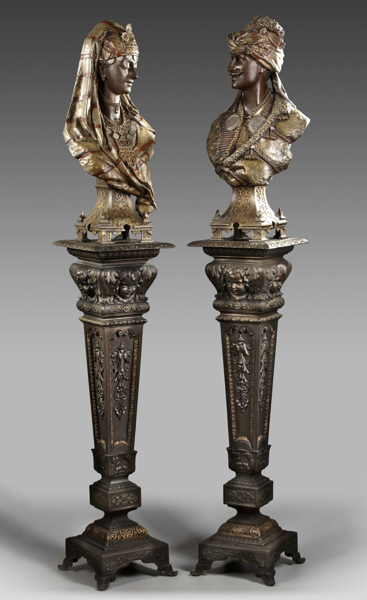 A PAIR OF BUSTS AFTER L. HOTTOT, LATE 19TH CENTURY - Image 2 of 5