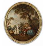 A FRENCH OIL PAINTING, LATE 19TH CENTURY