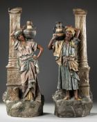 A PAIR OF AUSTRIAN 'ORIENTAL SCHOOL' STATUES, LATE 19TH CENTURY