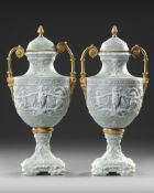 A PAIR OF WEDGWOOD VASES, ENGLAND, 19TH CENTURY