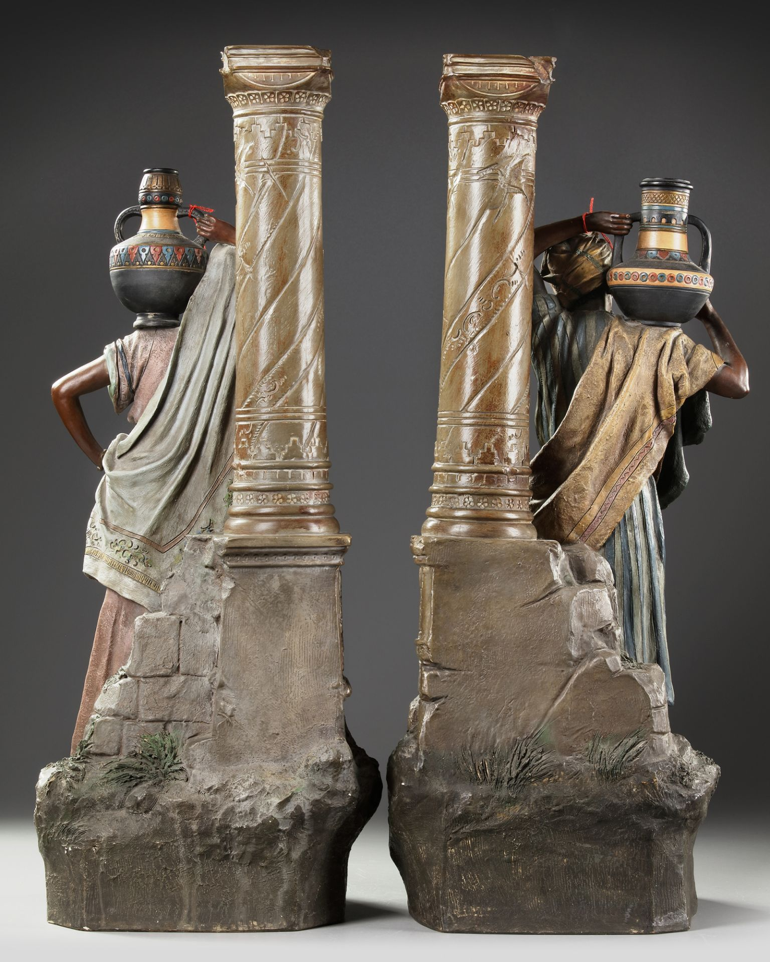 A PAIR OF AUSTRIAN 'ORIENTAL SCHOOL' STATUES, LATE 19TH CENTURY - Image 2 of 5