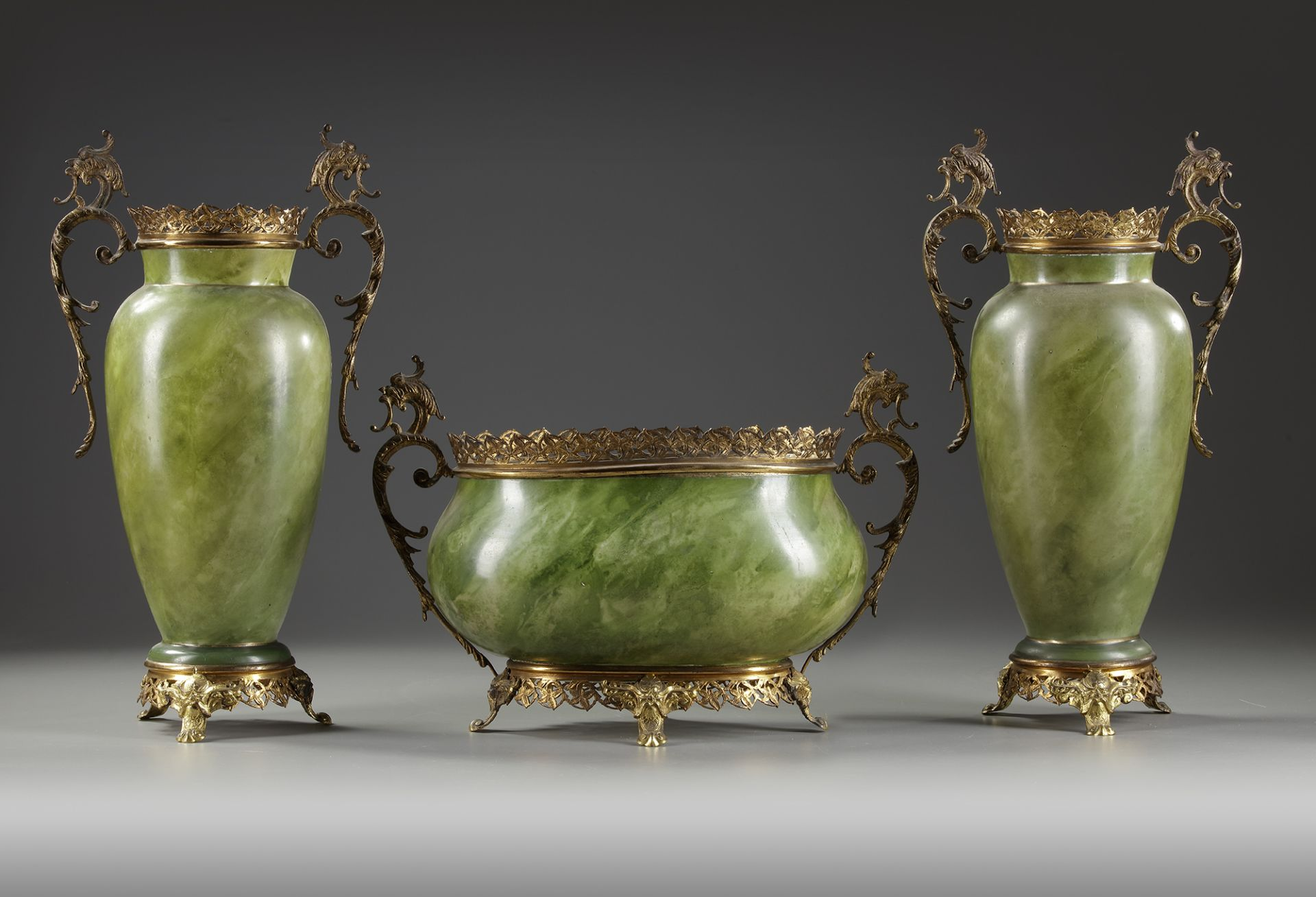 AN OPALINE SET, LATE 19TH CENTURY - Image 3 of 3