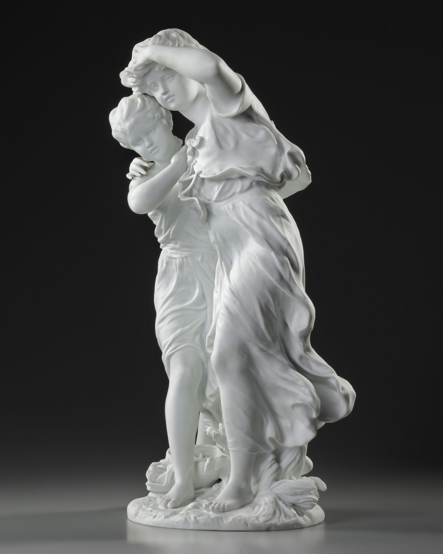 A FRENCH BISCUIT STATUE, SIGNED BY MOREAU (1834-1917) - Image 3 of 5