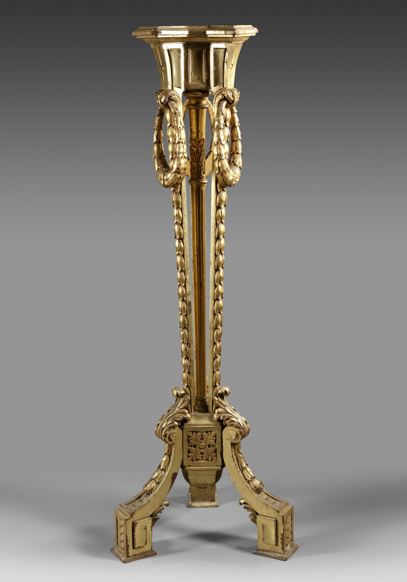 A FRENCH TRIPOD STAND, NAPOLEON III STYLE, LATE 19TH CENTURY - Image 2 of 2