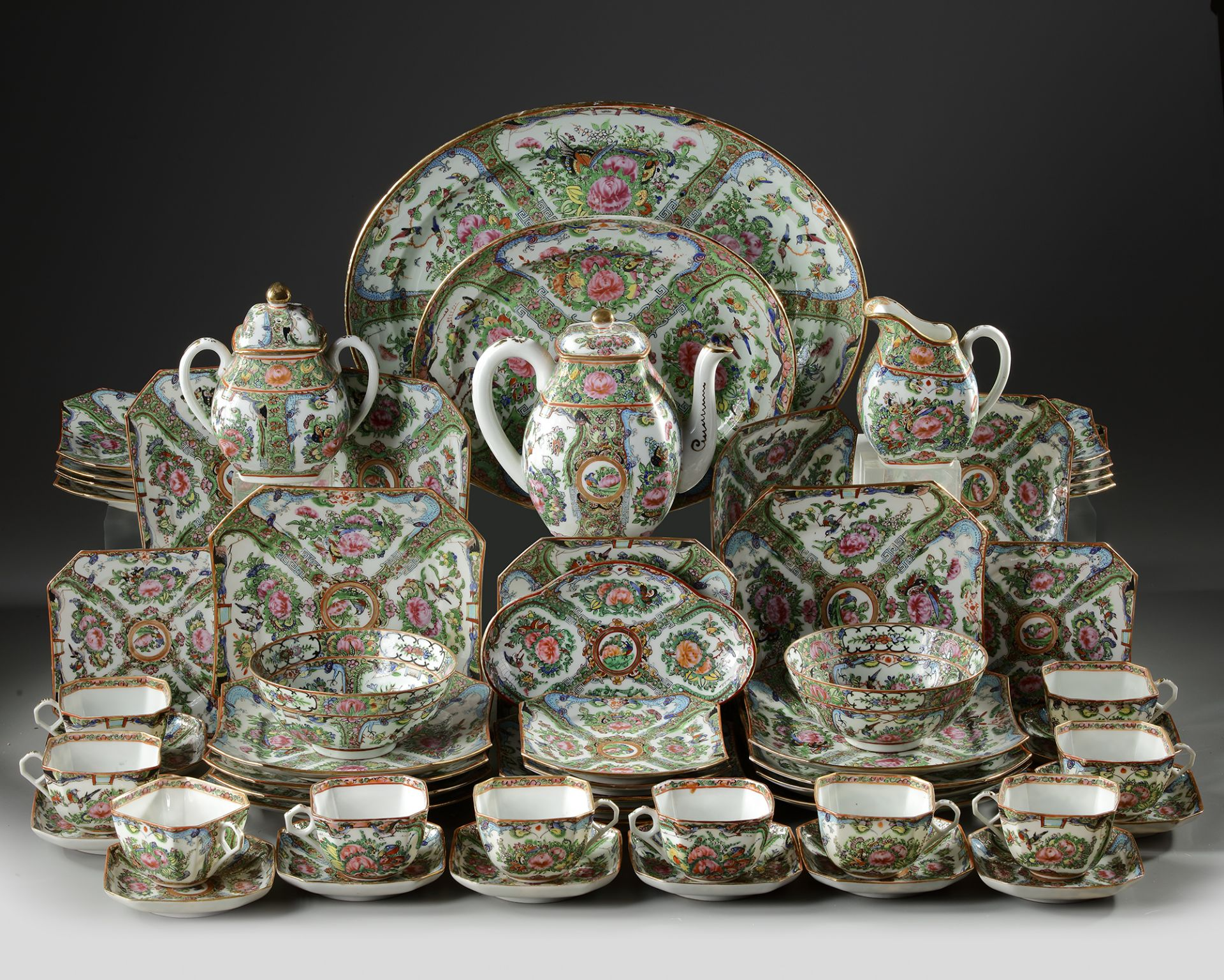 A CANTONESE PORCELAIN TABLEWARE SET, CHINA, 20TH CENTURY - Image 2 of 2