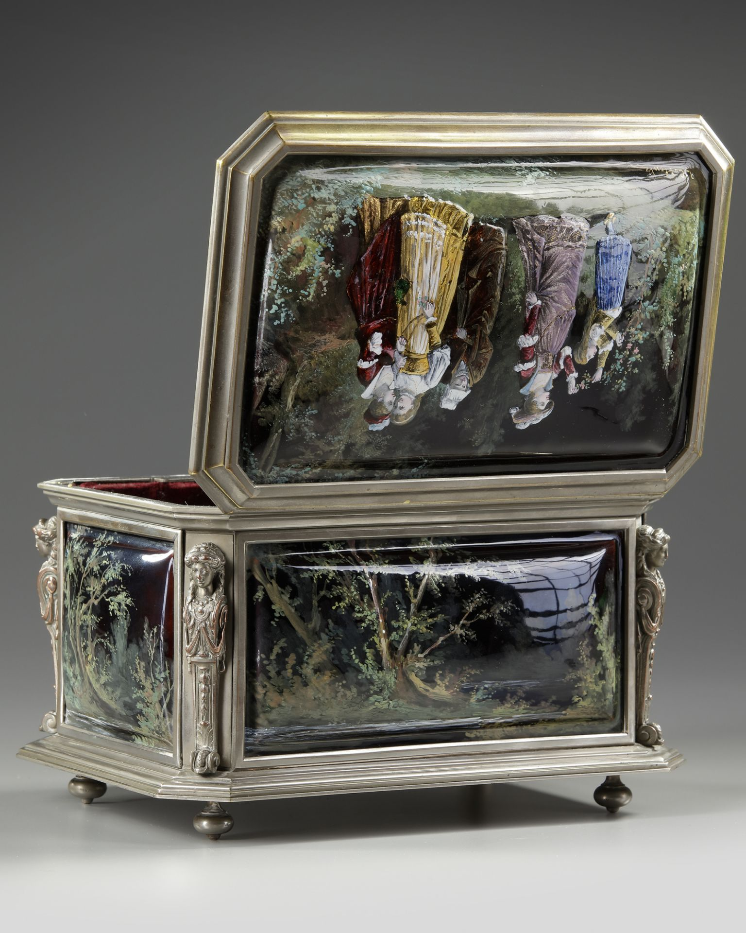 A JEWELRY BOX, FRANCE, LATE 19TH CENTURY - Image 3 of 4