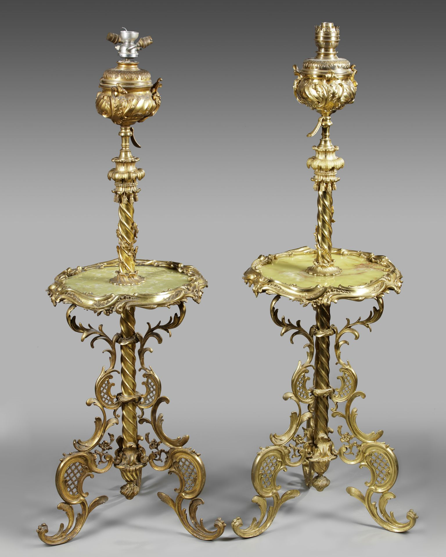 A PAIR OF ORMOLU FLOOR LAMPS, 19TH CENTURY - Image 2 of 2