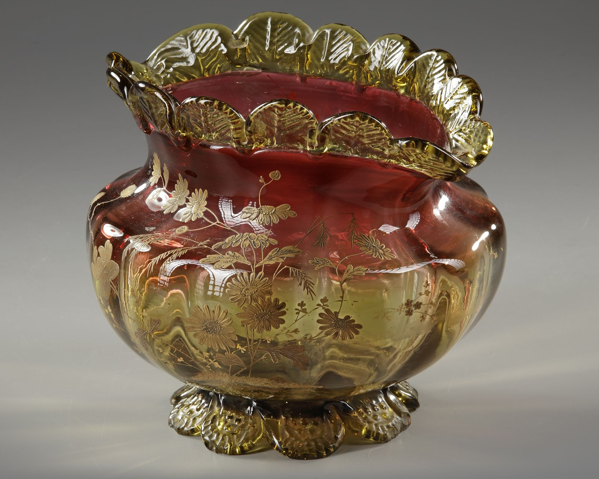 A BLOWN GLASS BOWL, 'LE GRAS', LATE 19TH CENTURY - Image 3 of 4