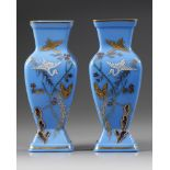 A PAIR OF OPALINE GLASS VASES, LATE 19TH CENTURY