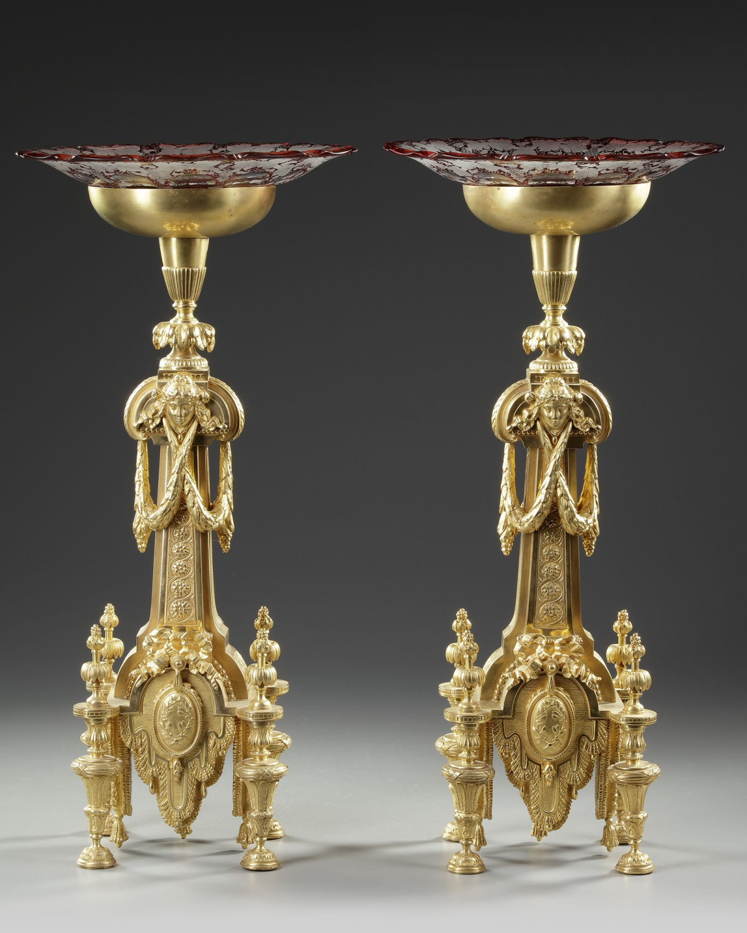 A PAIR OF ORMOLU CENTERPIECES, FRANCE, 19TH CENTURY