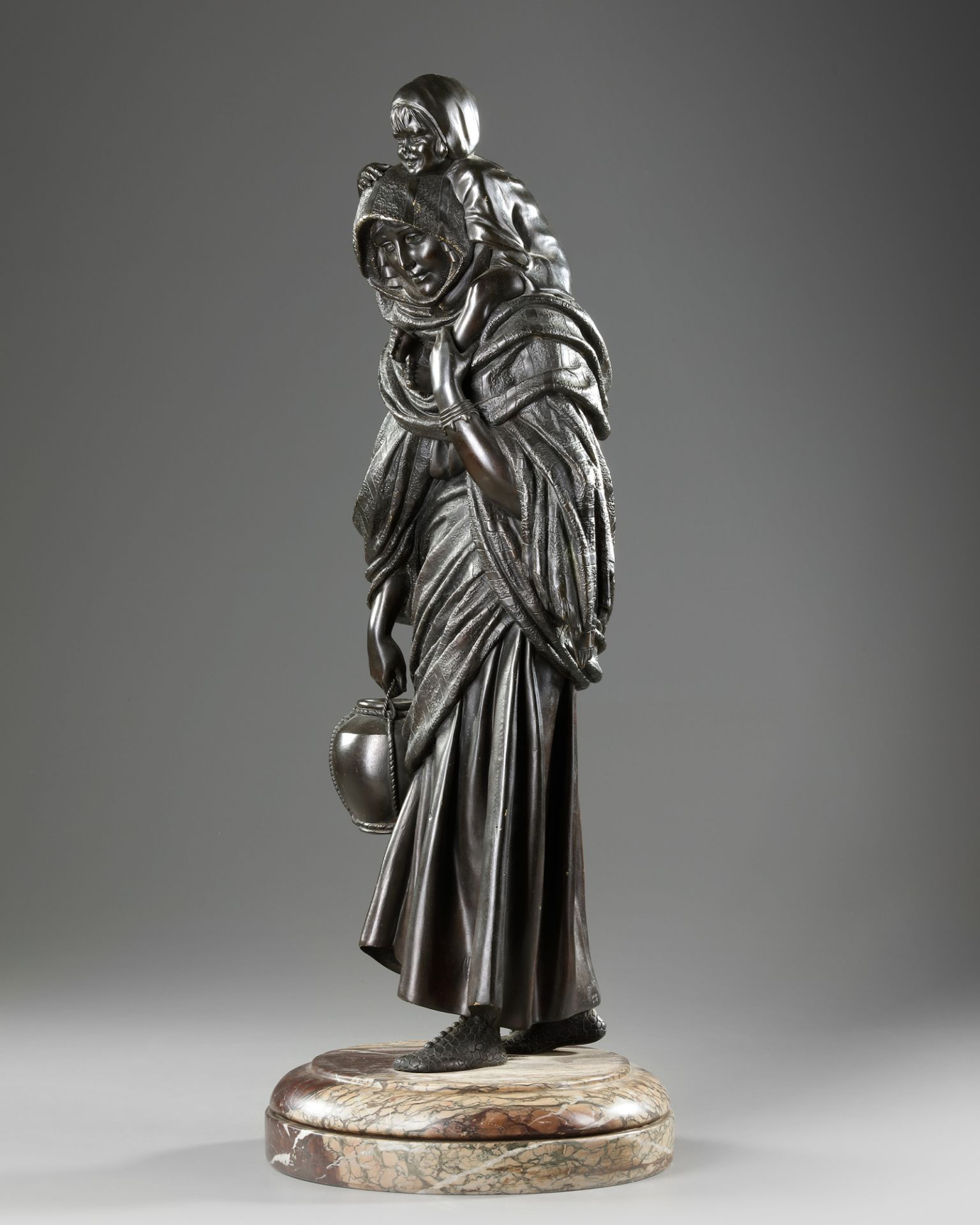 A BRONZE STATUE OF A LADY, DEMETRE CHIPARUS, 20TH CENTURY - Image 2 of 5