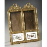 A FRENCH LOUIS XVI STYLE DOUBLE FRAME, LATE 19TH CENTURY