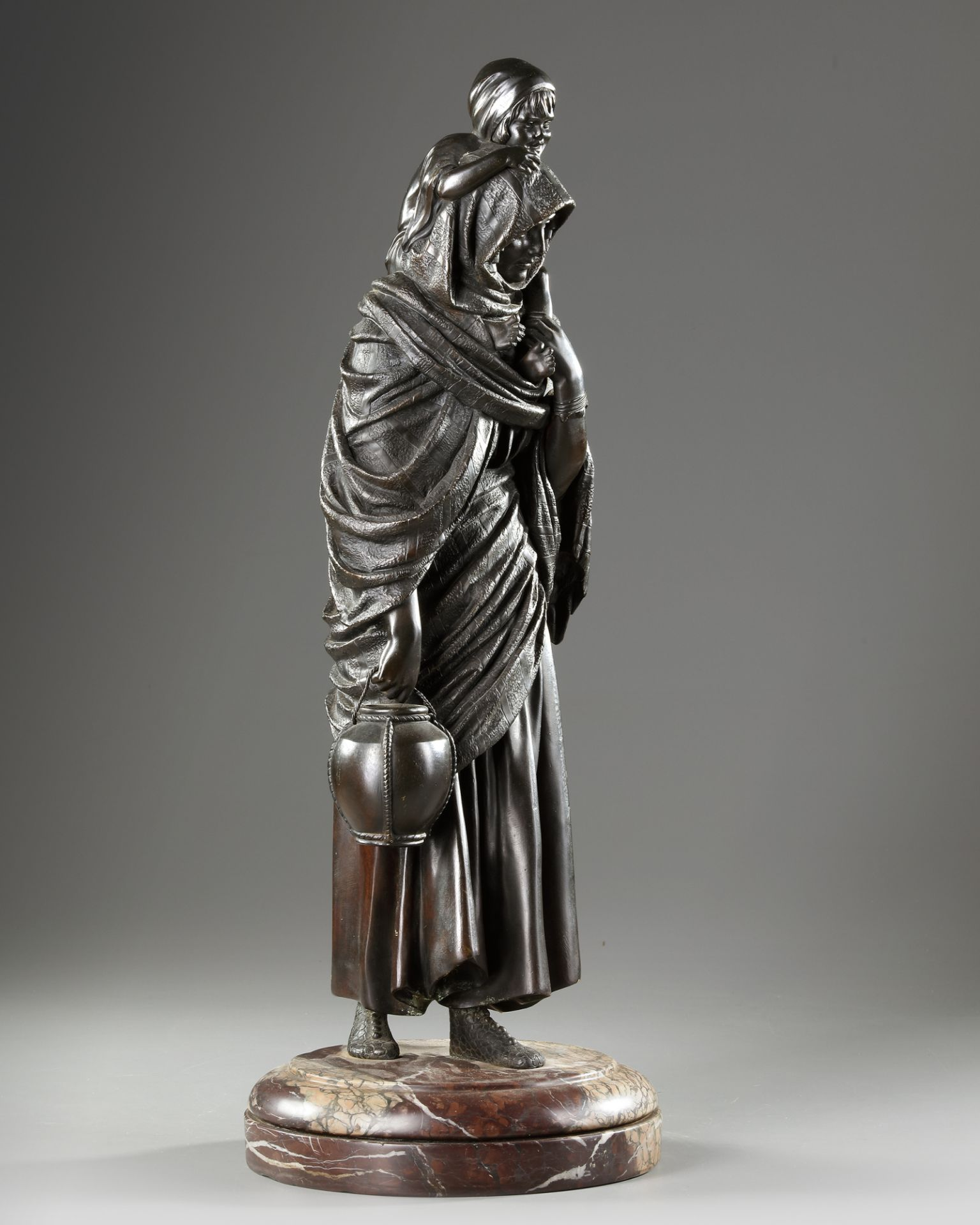 A BRONZE STATUE OF A LADY, DEMETRE CHIPARUS, 20TH CENTURY - Image 3 of 5