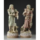 A PAIR OF ROYAL DUX FIGURINES, LATE 19TH CENTURY