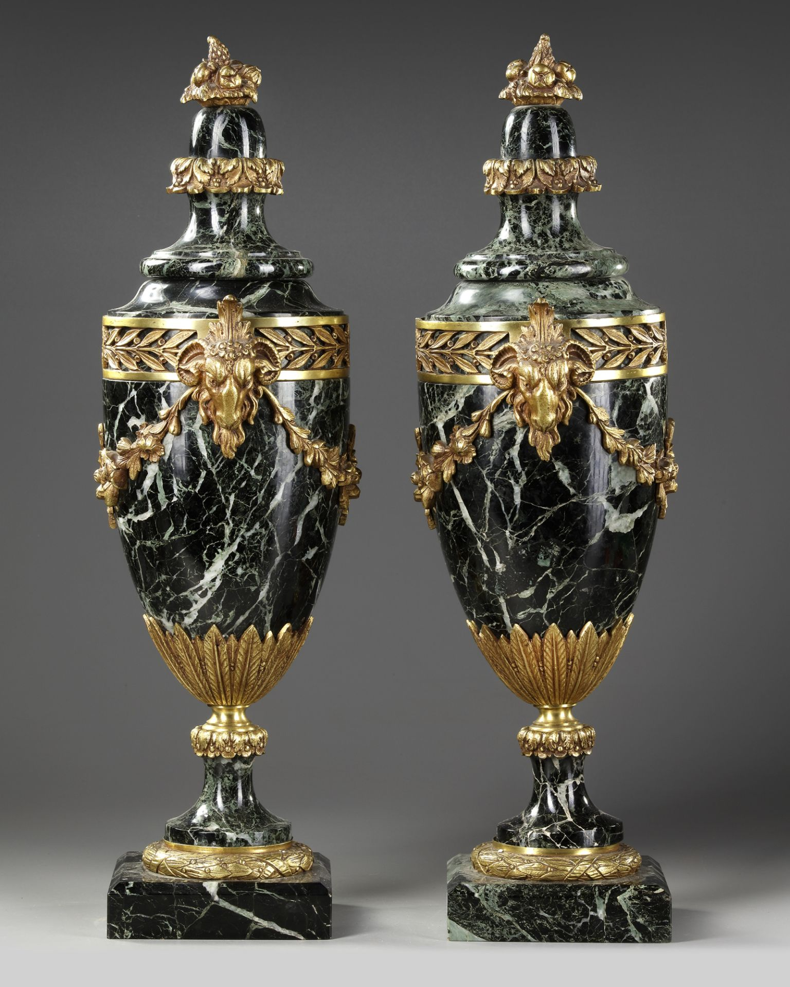 A PAIR OF MARBLE CASSOLETTES, FRANCE, 19TH CENTURY - Image 2 of 3