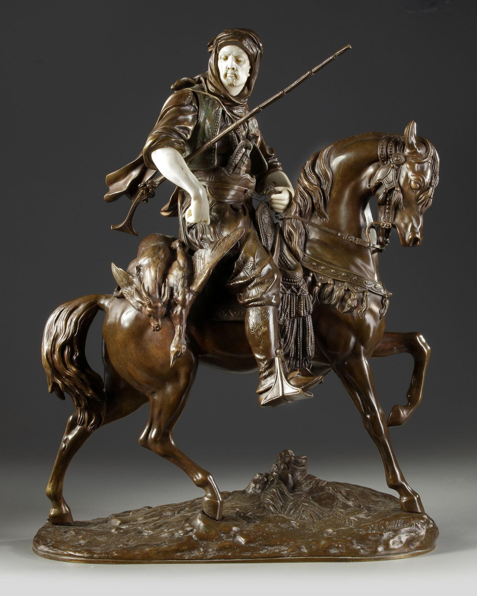 A SUPERB BRONZE SCULPTURE BY ALFRED BARYE AND EMILE GUILLEMIN, 19TH CENTURY