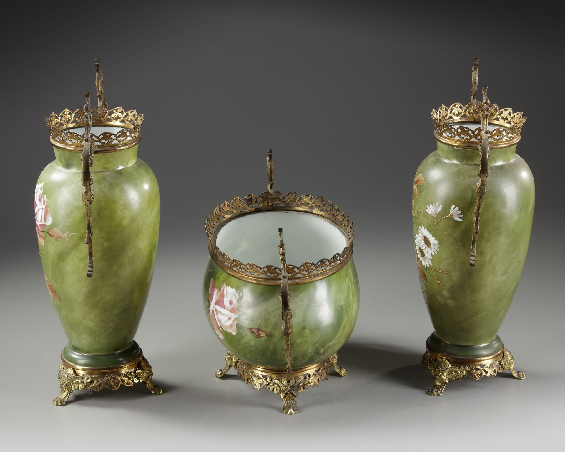 AN OPALINE SET, LATE 19TH CENTURY - Image 2 of 3