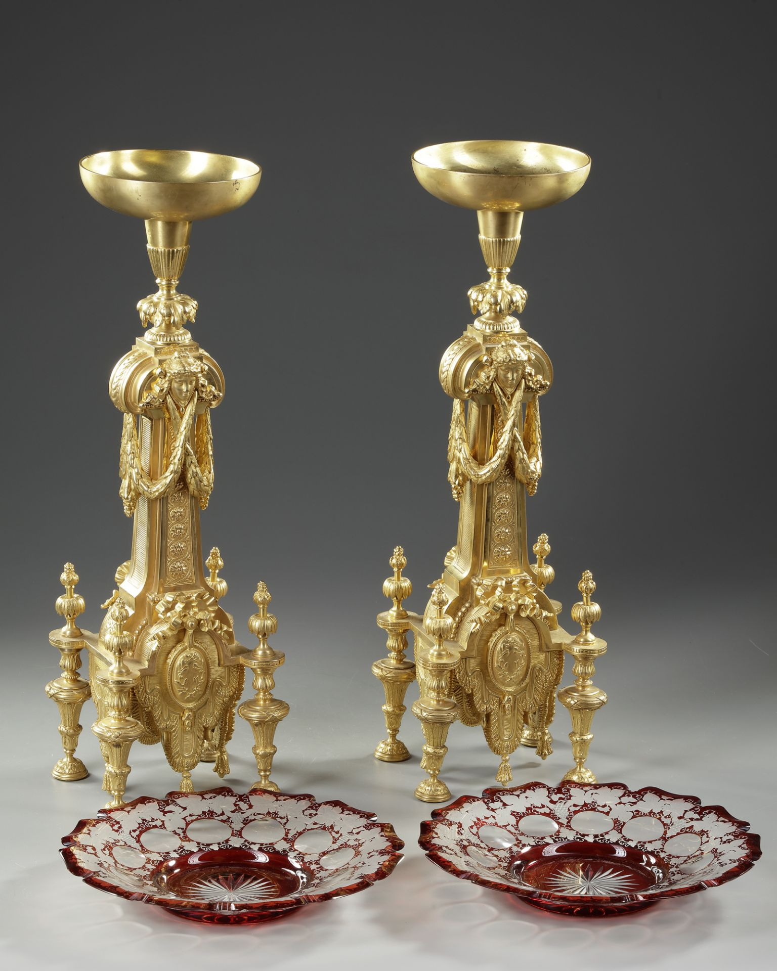 A PAIR OF ORMOLU CENTERPIECES, FRANCE, 19TH CENTURY - Image 4 of 4