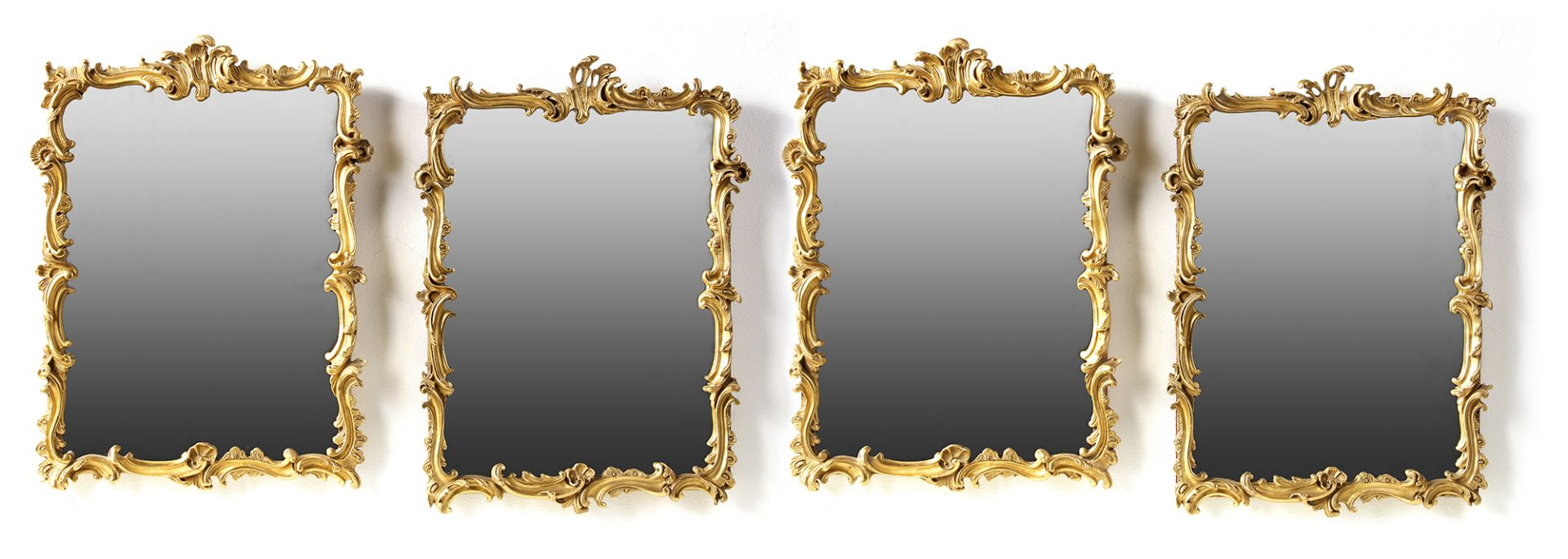 A SET OF FOUR GILT MIRRORS, FRANCE, 19TH CENTURY