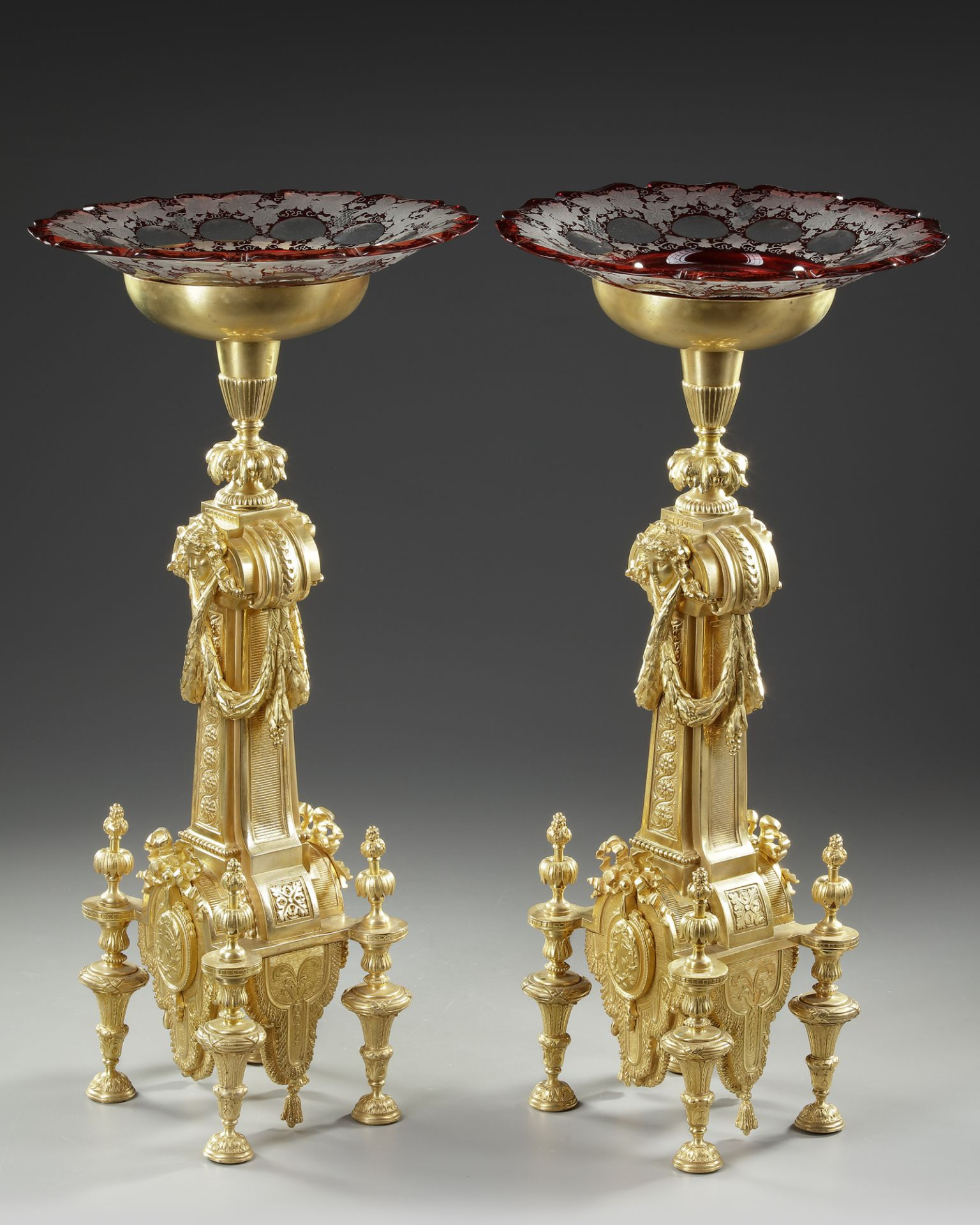 A PAIR OF ORMOLU CENTERPIECES, FRANCE, 19TH CENTURY - Image 2 of 4