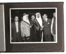 A RARE PHOTO ALBUM INCLUDING 11 ORIGINAL PHOTOS OF HIS HIGHNESS PRINCE MUHAMMAD BIN ABDUL AZIZ DURIN
