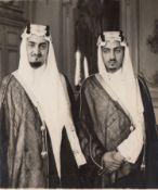 FOUR RARE PHOTOGRAPHS OF THE SAUDI INTERIOR MINISTER PRINCE ABDULLAH BIN FAISAL AL-SAUD, 1950s