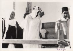 A COLLECTION OF PHOTOGRAPHS OF HIS MAJESTY KING FAISAL BIN ABDUL AZIZ VISITING THE GRAND MOSQUES OF
