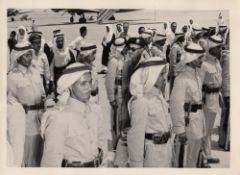 A COLLECTION OF SIX PHOTOGRAPHS ABOUT THE SAUDI ARMY COMMANDERS, OFFICERS AND SOLDIERS AND THEIR RE