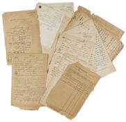 A SET OF DIFFERENT DOCUMENTS, CONTRACTS, RECEIPTS AND SETTLEMENTS, OF THE HIJAZ REGION, ESPECIALLY M