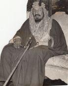 AN ORIGINAL PHOTOGRAPH OF KING ABDULAZIZ AL SAUD THE FIRST