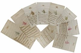 A COLLECTION OF TEN 19TH CENTURY OTTOMAN FIRMANS, ISSUED BY SEVERAL SULTANS ALL REGARDING AL-HARAM A