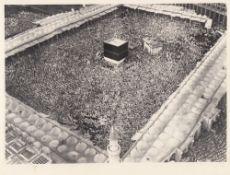 FOURTEEN RARE PHOTOGRAPHS OF THE FIRST EXPANSION OF THE MASJID AL-HARAM DURING KING SAUD BIN ABDULAZ